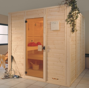 Massivholz-Sauna Sauna aus Holz Blockbohlen Sauna