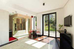 Design-Sauna Massivholzsauna Sauna kaufen